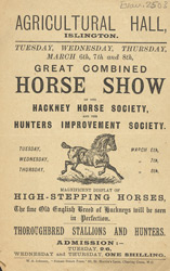 Advert for a Horse Show at the Agricultural Hall